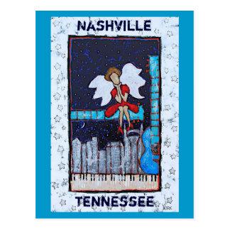 Postal del ángel de Tonk del Honky (Nashville, TN)
