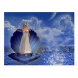 Postal del ángel del agua