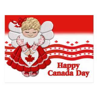 Postal del ángel del día de Canadá