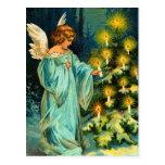Postal del ángel del navidad del vintage