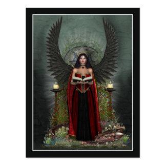 Postal del ángel - protector oscuro del ángel
