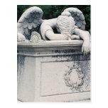 Postal del ángel que llora