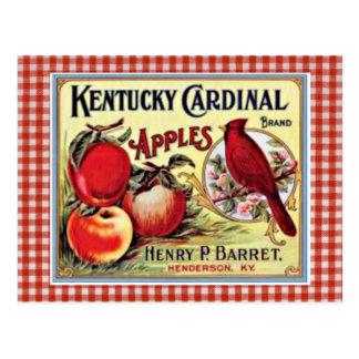 Postal del anuncio de Apple del vintage