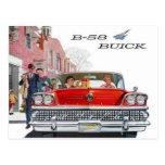 Postal del anuncio de Buick del vintage