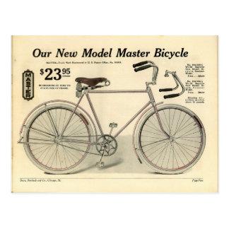 Postal del anuncio de la bicicleta del vintage