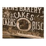 Postal del anuncio de la panadería del vintage