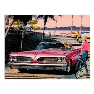 Postal del anuncio de Pontiac del vintage