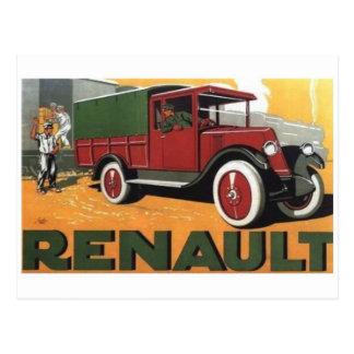 Postal del anuncio del camión del vintage
