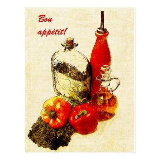 postal del appetit del paprika y del bon de los ac