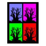 Postal del árbol de Boab del arte pop