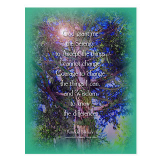 Postal del árbol de cedro del rezo de la serenidad