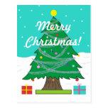 Postal del árbol de navidad
