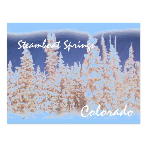 Postal del árbol de Steamboat Springs