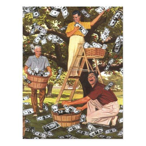 Postal del árbol del dinero