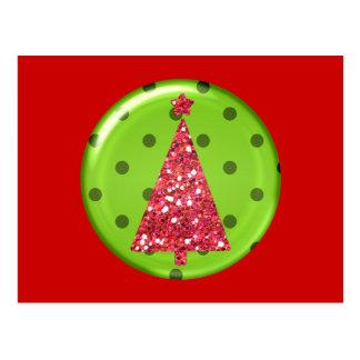 Postal del árbol del ornamento del navidad
