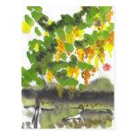 Postal del árbol del otoño