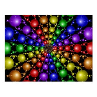Postal del arco iris de Newton