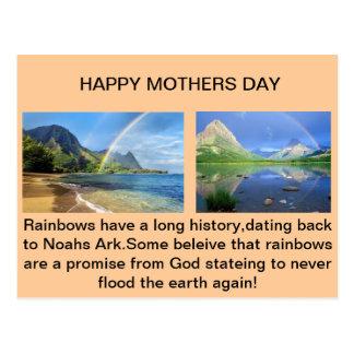 Postal del arco iris del día de madres