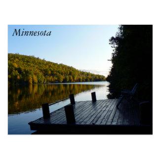 Postal del área de embarque de Minnesota del lago