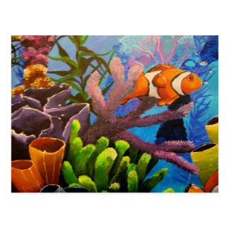 Postal del arrecife de coral