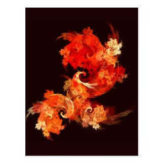 Postal del arte abstracto de Firebirds del baile