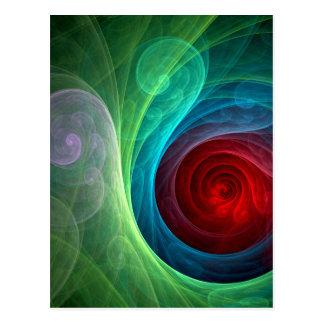 Postal del arte abstracto de Red Storm