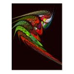 Postal del arte abstracto del camaleón