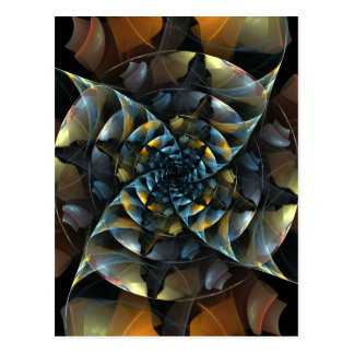 Postal del arte abstracto del molinillo de viento
