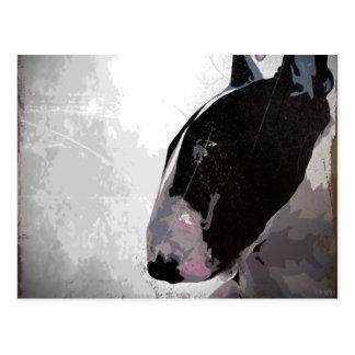 Postal del arte de bull terrier del inglés