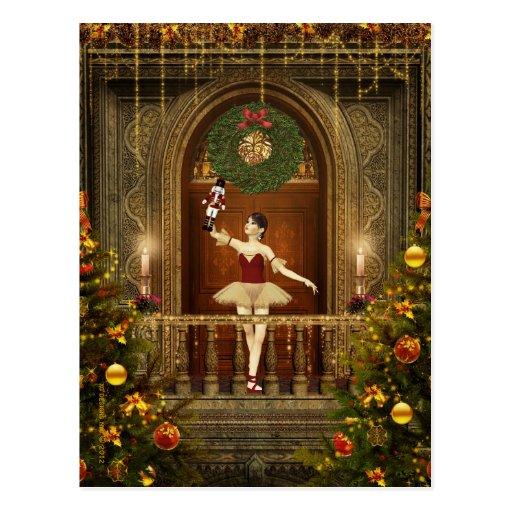 Postal del arte de Digitaces de la bailarina y del