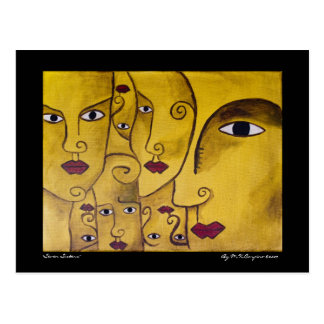 Postal del arte de Framable de siete hermanas