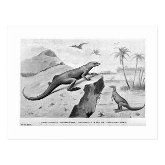 Postal del arte de Hypsilophodon