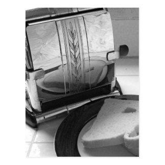 Postal del arte de la cocina de la tostadora del v