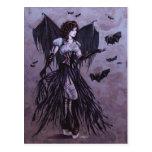 Postal del arte de la fantasía de la diosa del pal
