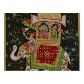 Postal del arte de la India
