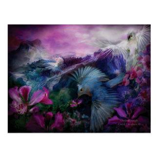 Postal del arte de la selva de la orquídea