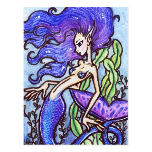 Postal del arte de la sirena de la fantasía: Lanik