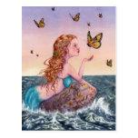 Postal del arte de la sirena - tráigame las notici