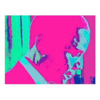 Postal del arte de Obama