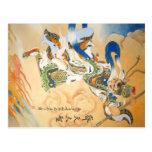Postal del arte de rey Sun WuKong chinese del mono