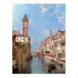 Postal del arte de Venecia de Unterberger