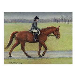 Postal del arte del caballo del paseo de la mañana
