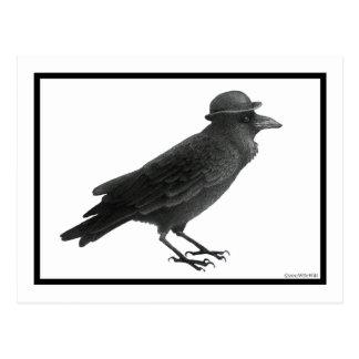 Postal del arte del cuervo