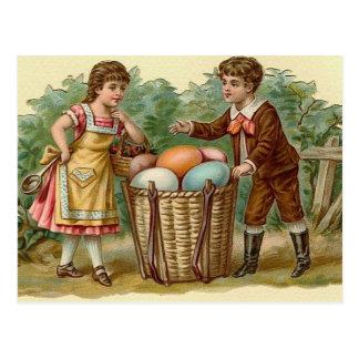 Postal del arte del día de fiesta de Pascua del vi