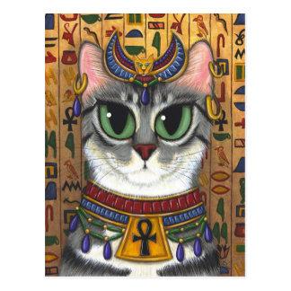 Postal del arte del gato de Bastet del egipcio de