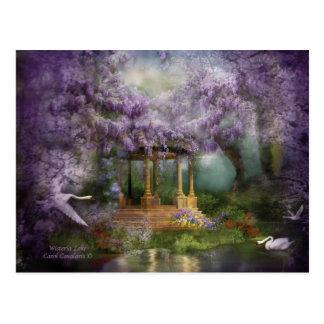 Postal del arte del lago wisteria