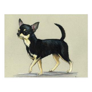 "Postal del arte del perro de la ""chihuahua"""