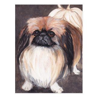 Postal del arte del perro de Pekingese