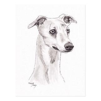 Postal del arte del perro de Whippet