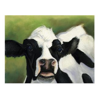 Postal del arte del primer de la vaca